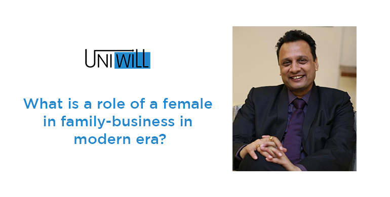 What is a role of a female in family-business in modern era?